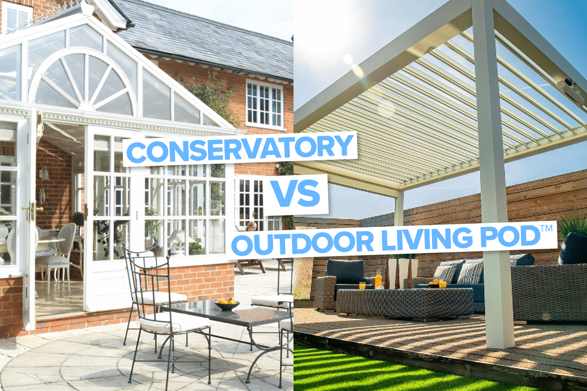 Conservatory | Outdoor Living Pod | Louvered Roof | Pergola | Canopy