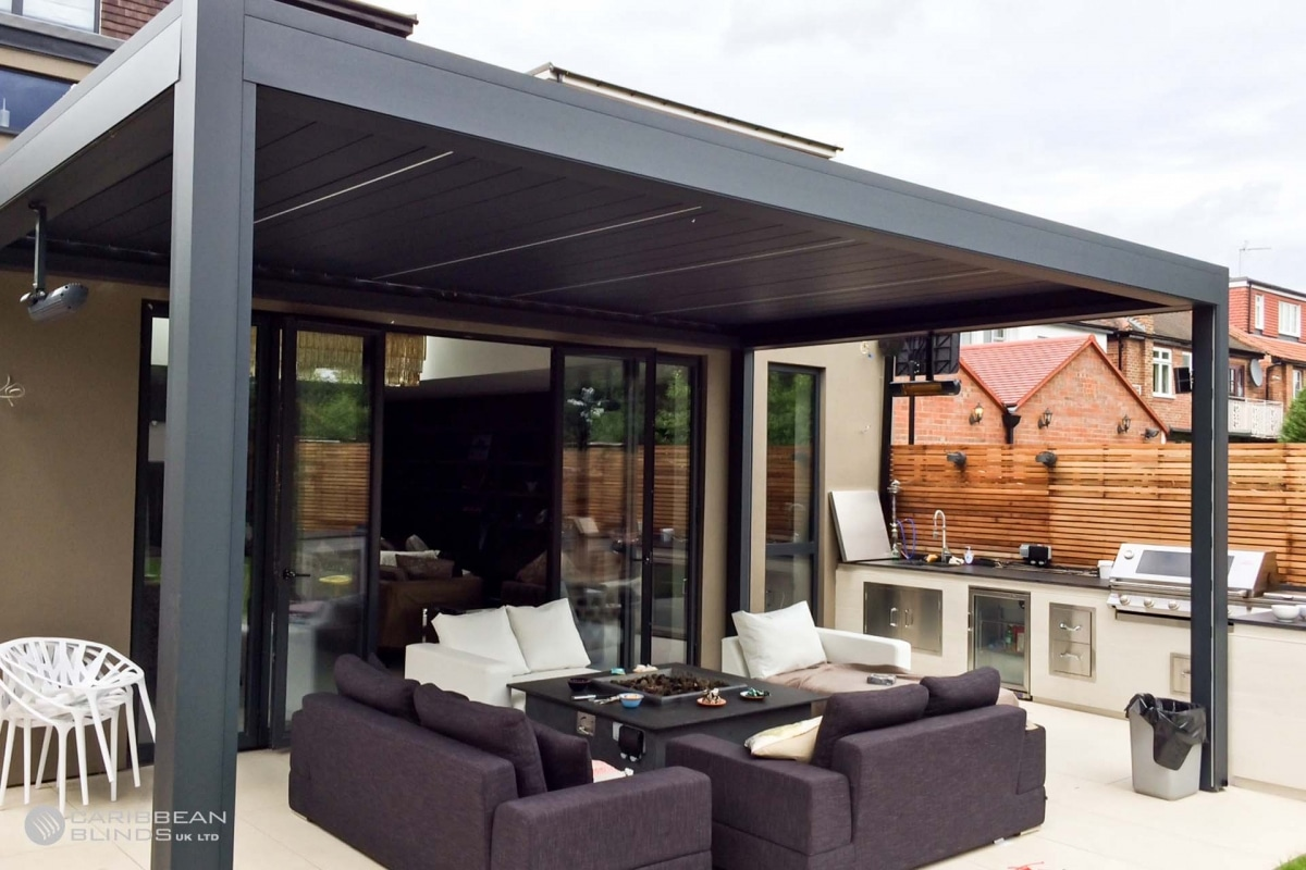 27 - Caribbean Blinds - Deluxe Outdoor Living Pod - Lean To - Ealing
