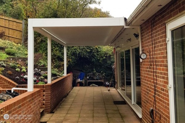 Louvered Roof Outdoor Living Pod   Lean To   Caribbean Blinds