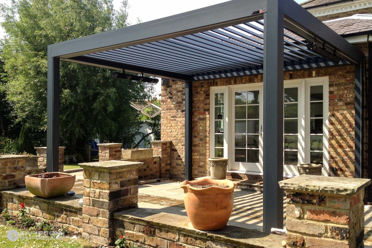 10 - Caribbean Blinds - Deluxe Outdoor Living Pod - Lean To - Waltham Abbey
