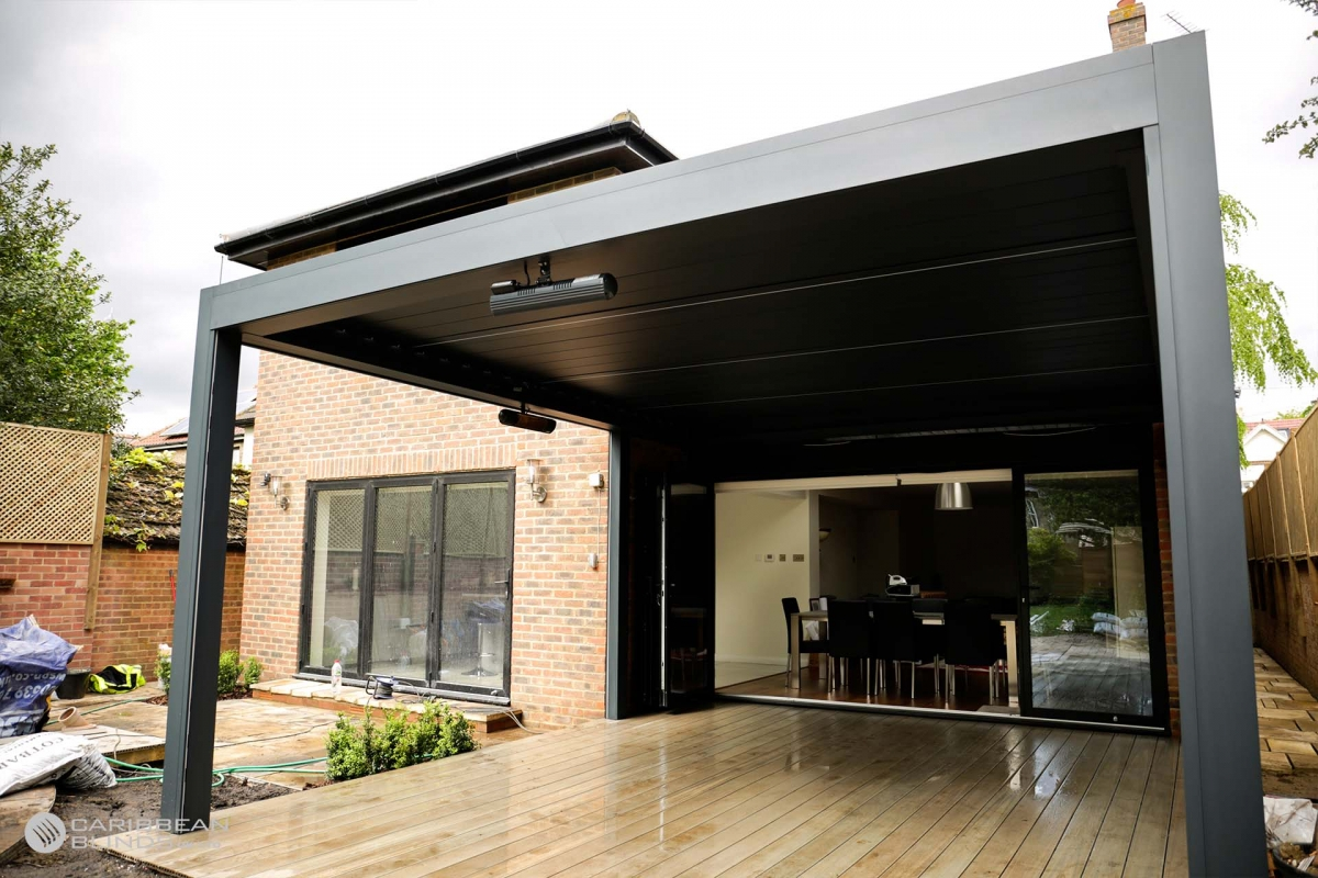 35 - Caribbean Blinds - Deluxe Outdoor Living Pod - Freestanding - Woolwich