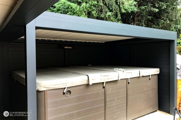 Louvered Roof Outdoor Living Pod | Freestanding | Caribbean Blinds