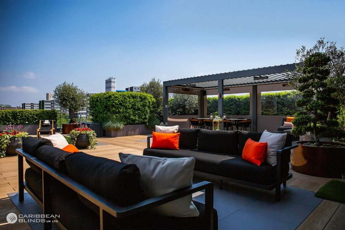 Architectural Outdoor Canopy   Rooftop Terrace   Caribbean Blinds