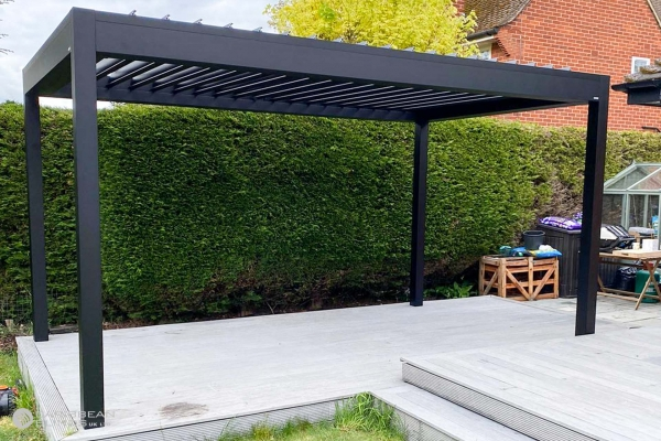 Louvered Roof Outdoor Living Pod | Freestanding | Caribbean Blinds | Patio