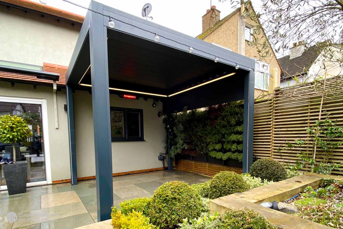 97- Caribbean Blinds - Deluxe Outdoor Living Pod - Lean To - Loughton