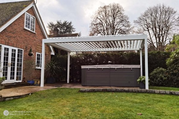 Louvered Roof Outdoor Living Pod | Freestanding | Caribbean Blinds | Patio | Swim Spa | Hot Tub