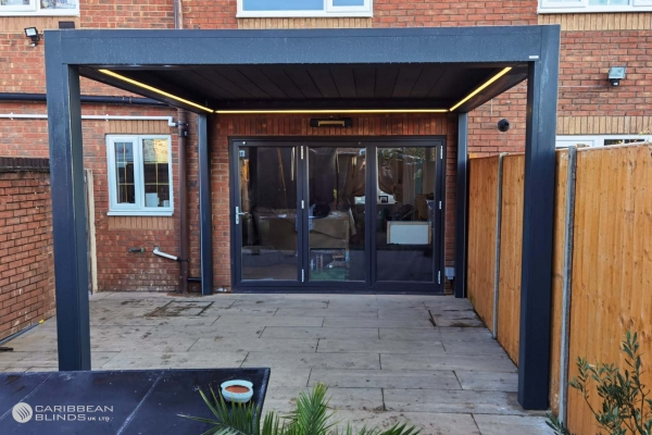Louvered Roof   Outdoor Living Pod   Pergola   Canopy   Caribbean Blinds   Patio   Bifold Doors