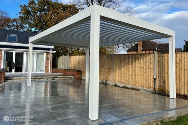Louvered Roof | Outdoor Living Pod | Pergola | Canopy | Caribbean Blinds