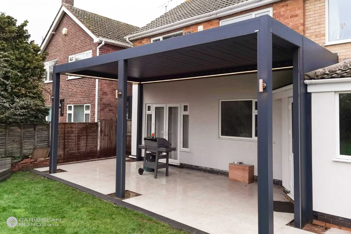 84 - Caribbean Blinds - Deluxe Outdoor Living Pod - Lean To - Leicester