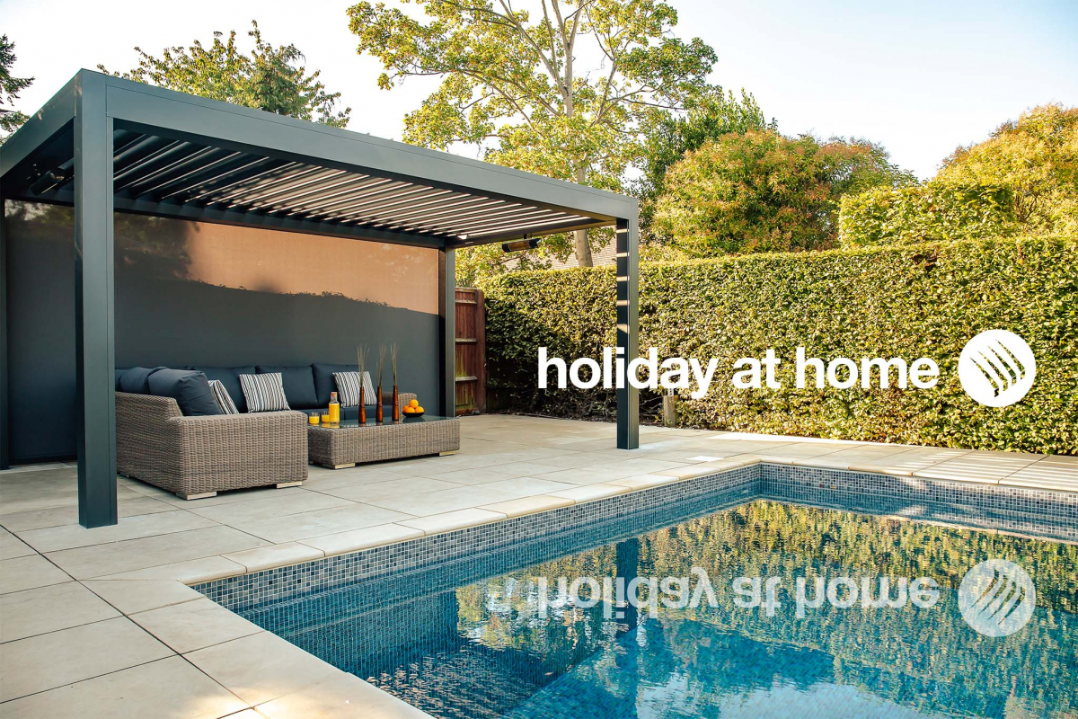 Holiday at Home made possible with an Outdoor Living Pod