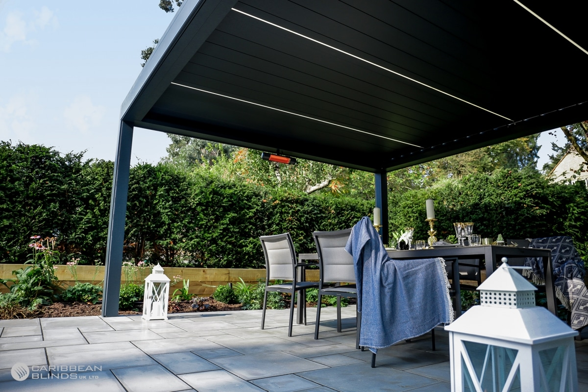 Louvered Roof   Outdoor Living Pod   Caribbean Blinds
