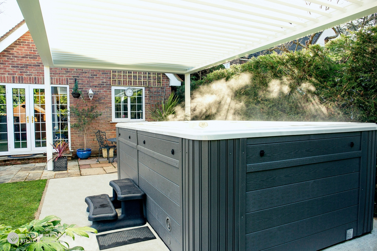 Louvered Roofs | Outdoor Living Pod | Caribbean Blinds | Swim Spa | GB Athletes | Hot Tub