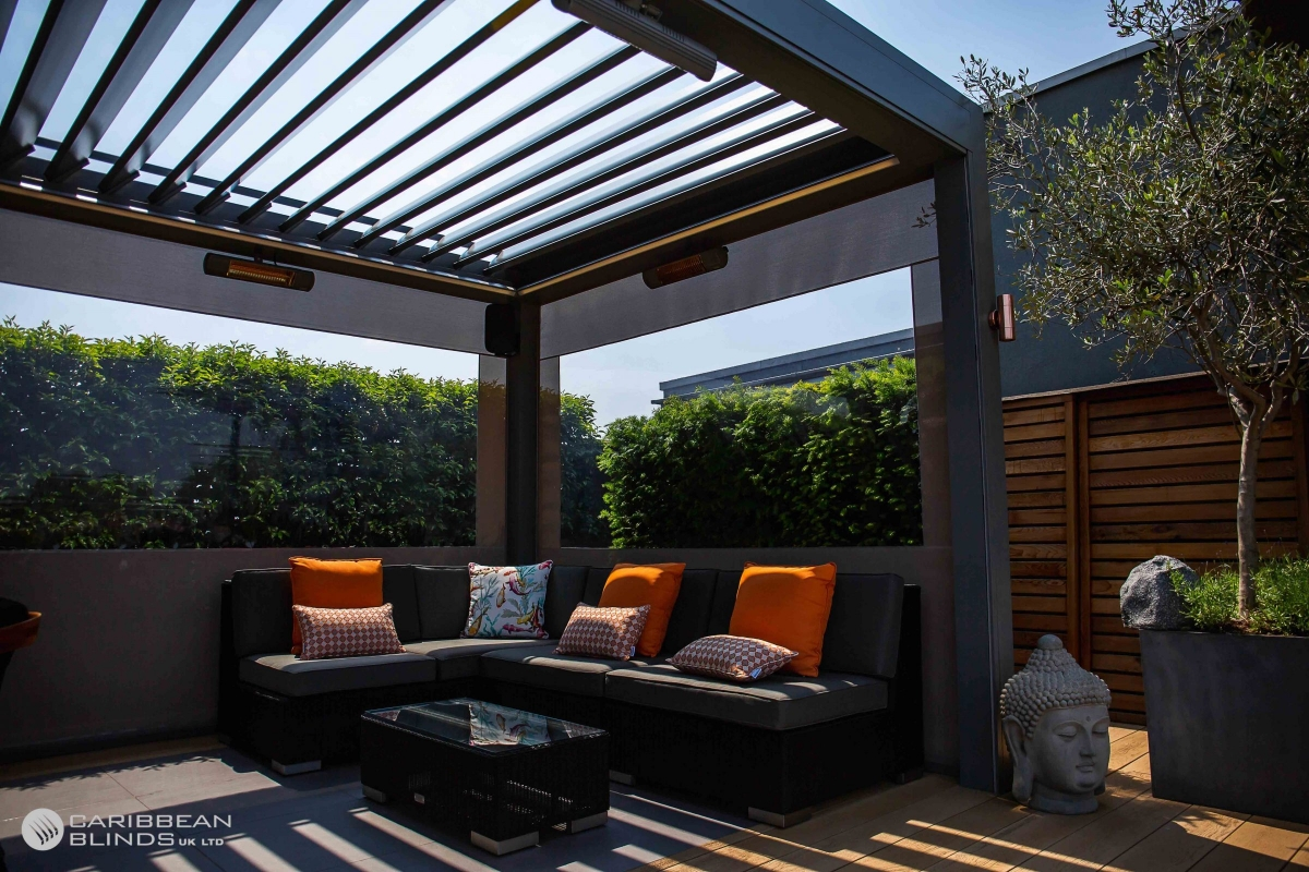 Louvered Roofs | Outdoor Living Pod | Caribbean Blinds